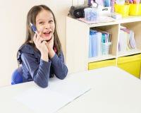 亚裔美国人女孩在学校 库存图片