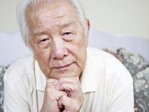亚裔老人 免版税图库摄影