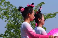 亚裔舞蹈演员 库存照片