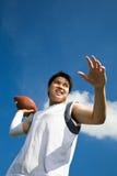 亚裔足球运动员 库存照片