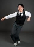 亚裔跳舞爵士乐人 库存照片