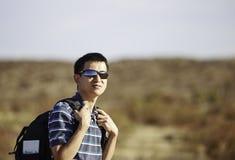 亚裔远足者 免版税库存照片