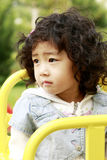 亚裔逗人喜爱的女孩一点 库存照片