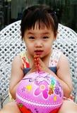 亚裔逗人喜爱的女孩 库存照片