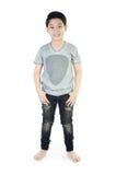亚裔逗人喜爱的男孩画象 免版税图库摄影