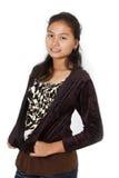亚裔青少年的女孩 免版税库存照片