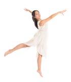 年轻亚裔青少年的当代舞蹈家 库存图片