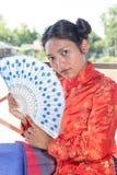 亚裔风扇妇女 库存图片