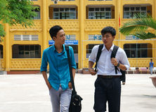 亚裔高中学生 免版税库存图片