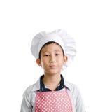 亚裔年轻厨师 免版税库存图片