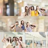 亚裔购物妇女 库存照片