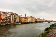 亚诺河佛罗伦萨意大利河 库存照片