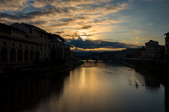 亚诺河在佛罗伦萨 图库摄影