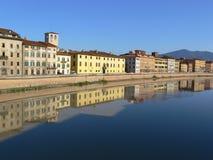 亚诺河意大利比萨河 免版税库存图片