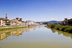 亚诺河河在佛罗伦萨(佛罗伦萨),托斯卡纳,意大利 免版税库存图片