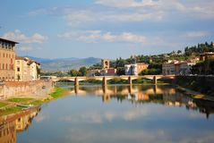亚诺河河,佛罗伦萨,意大利 库存照片