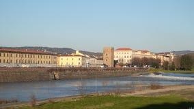 亚诺河河 佛罗伦萨意大利 股票录像