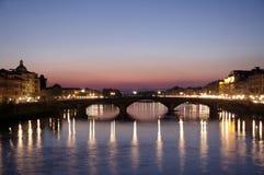 亚诺河黎明佛罗伦萨河 免版税库存照片