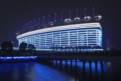 亚运会体育场在晚上,广州,中国 免版税库存图片