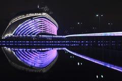 亚运会体育场在晚上,广州,中国 库存照片