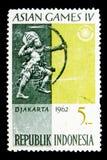亚运会, serie,大约1962年 免版税库存图片
