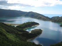 亚速尔群岛圣地Migel Lagoa做Fogo 免版税库存照片