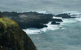 亚速尔群岛沿海风景 免版税图库摄影