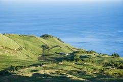 亚速尔群岛海岛横向牧场地pico 免版税库存图片