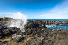 亚速尔群岛海岸线风景在弗洛勒斯海岛 葡萄牙 库存图片