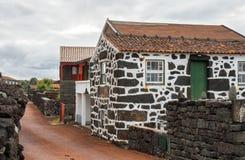 亚速尔群岛的典型的村庄 库存图片