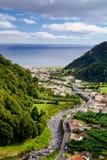 亚速尔群岛风景- Faial da土地 库存照片