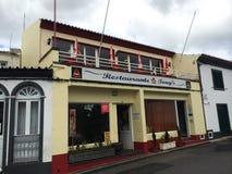 亚速尔群岛餐馆 免版税库存照片