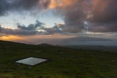 亚速尔群岛高牧场地 免版税图库摄影