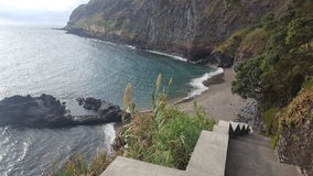 亚速尔群岛- Caloura 图库摄影