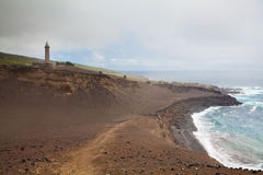 亚速尔群岛capelinhos faial海岛火山 免版税库存图片
