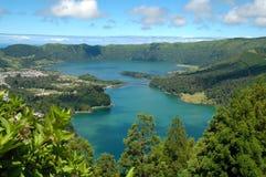 亚速尔群岛cidades das lagoa葡萄牙sete 免版税库存照片