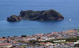 亚速尔群岛de franca illheu海岛维拉 库存图片