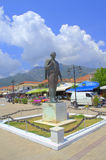 亚里士多德・奥纳西斯雕塑,希腊 图库摄影