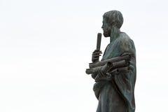 亚里斯多德雕象一位了不起的希腊哲学家 免版税图库摄影