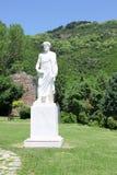 亚里斯多德雕象 免版税库存照片