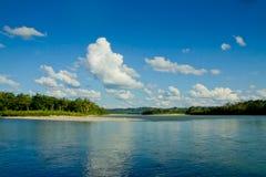 亚马孙河,厄瓜多尔的反映 库存照片