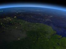 亚马逊三角洲在晚上 库存例证