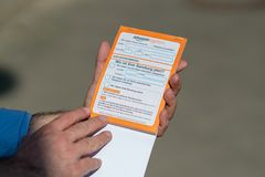 亚马逊交货证明收据 免版税库存图片