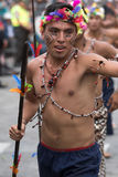 从亚马逊地区的人在科珀斯克里斯蒂游行 库存图片