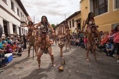 从亚马逊地区的土产舞蹈家 库存图片