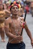 从亚马逊地区的胸部赤裸的土产人 免版税图库摄影