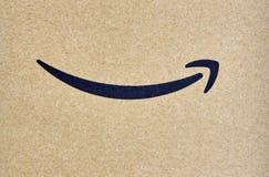 亚马逊最初运送箱 免版税库存照片