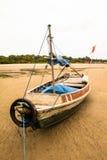 亚马逊渔船 库存照片