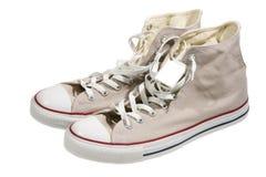 亚麻制鞋子 库存图片