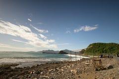 亚齐海滩是一个多数beautifu海滩在印度尼西亚 免版税库存图片